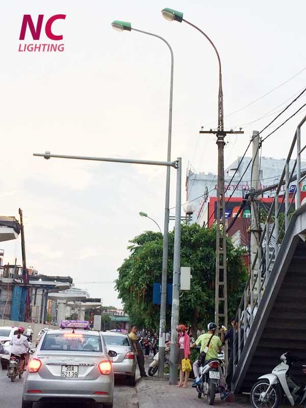 Báo giá cột đèn cao áp liền cần đơn tại Hà Nội