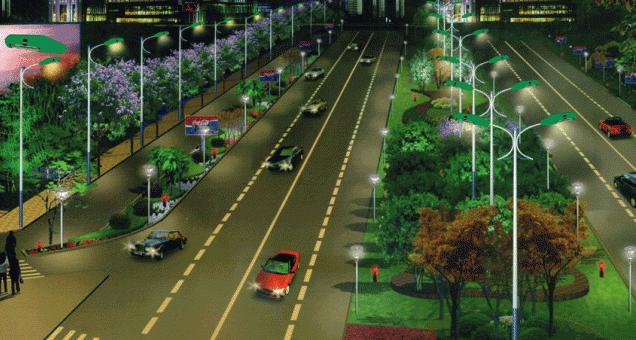 Hệ thống đèn cao áp chiếu sáng đường phố