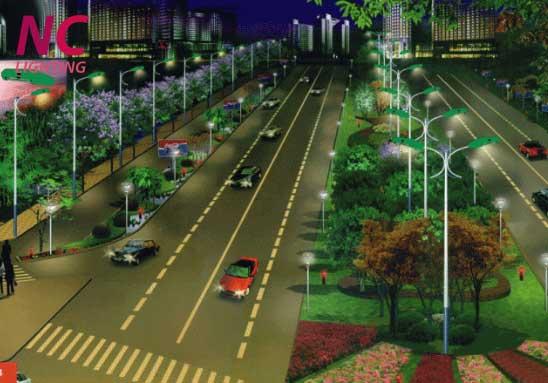 Cột đèn chiếu sáng đường phố