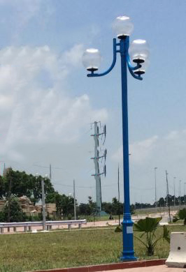 cột đèn trang trí sân vườn nouvo