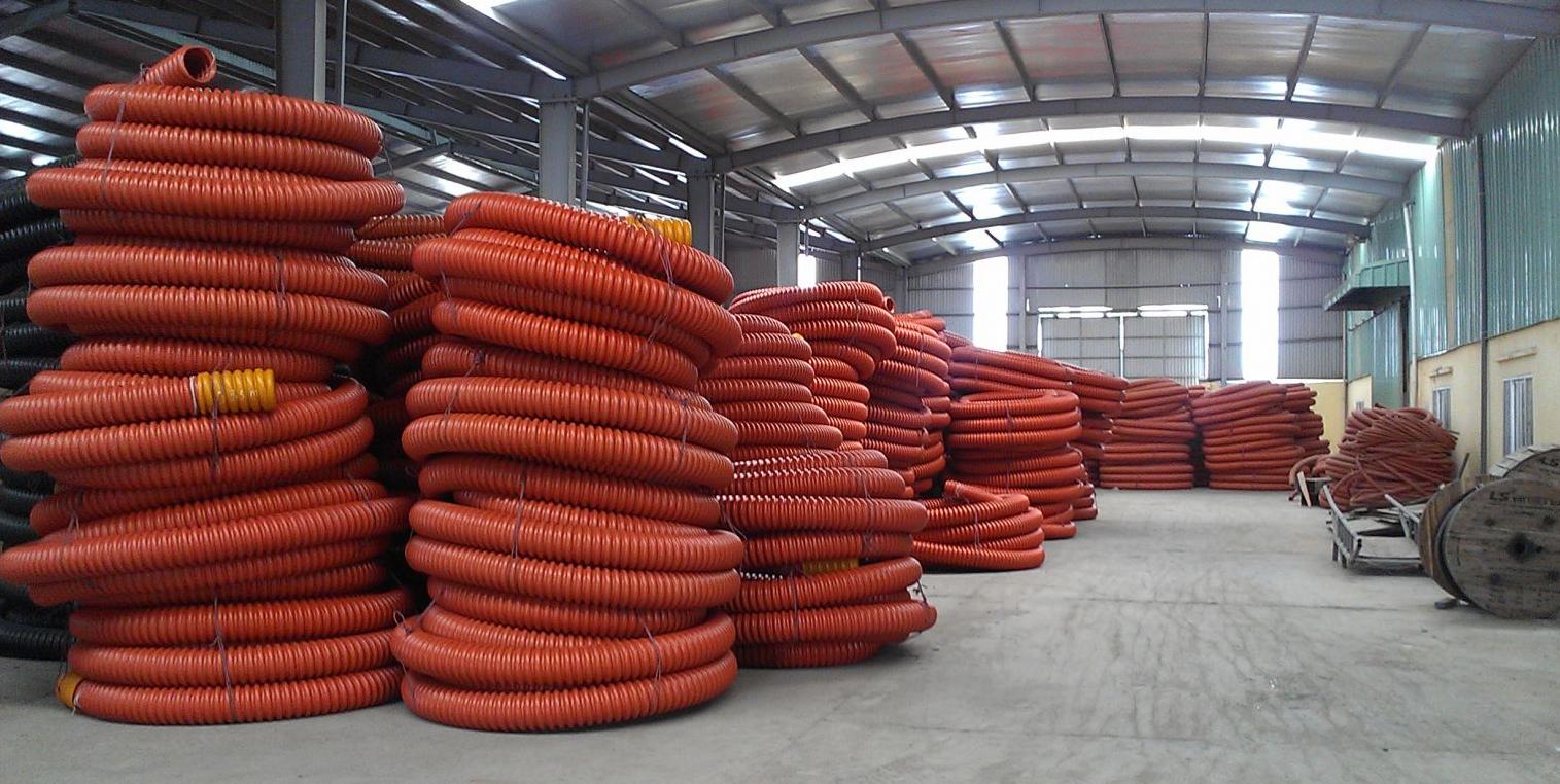 Nhà máy sản xuất ống nhựa xoắn HDPE