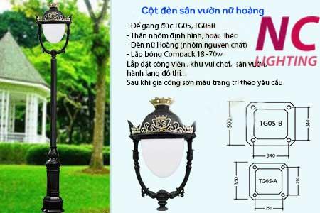 Cột đèn sân vườn nữ hoàng giá rẻ