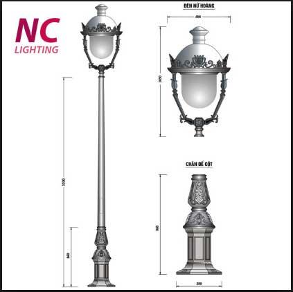Giá cột đèn sân vườn nữ hoàng