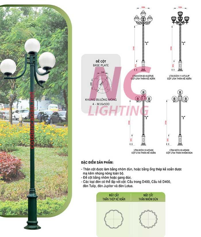 báo giá cột đèn sân vườn tại hải dương