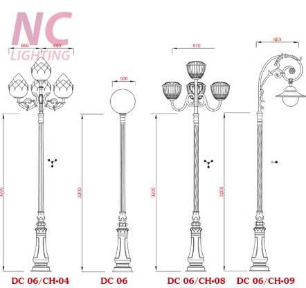 Báo giá cột đèn sân vườn tại Ninh Bình
