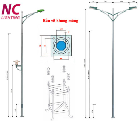 cột đèn cao áp rời cần đơn