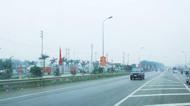 Cột đèn cao áp tại Bắc Giang