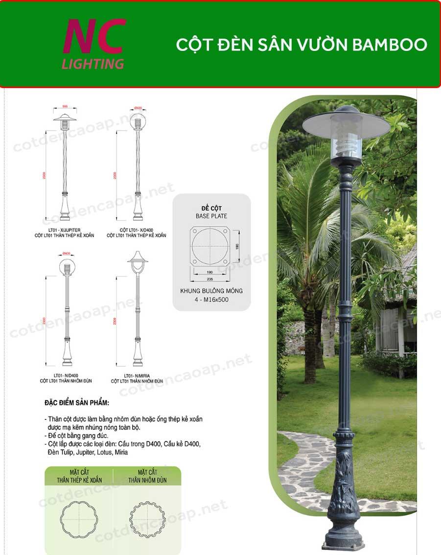 Cột đèn sân vườn Baboo