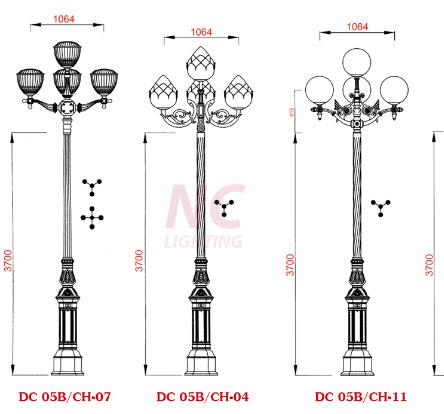 thiết kế cấu tạo cột đèn sân vườn