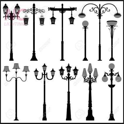 Một số mẫu cột đèn sân vườn tại Hòa Bình giá rẻ