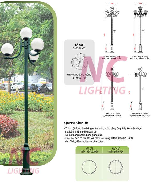 Cột đèn sân vườn tại Hưng Yên
