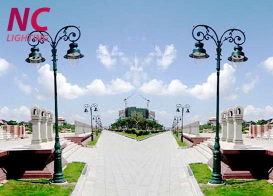 Cột đèn sân vườn tại Lai Châu