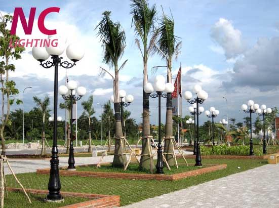Cột đèn sân vườn tại Vĩnh Phúc