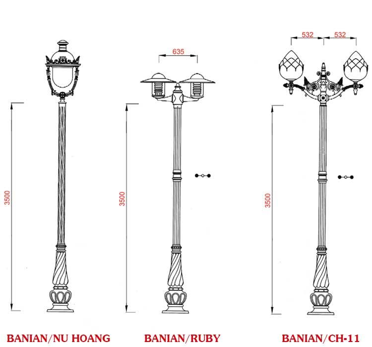 cột đèn trang trí sân vườn hà nội giá