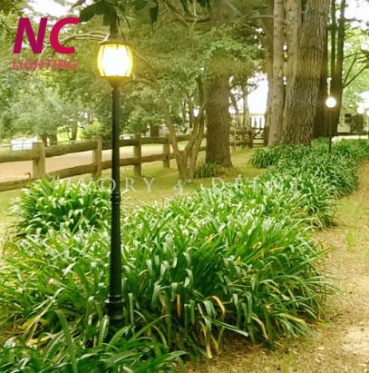 cột đèn trang trí sân vườn tại Hòa Bình