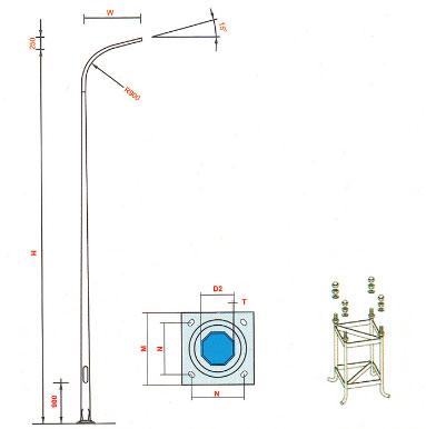 Thiết kế cột đèn cao áp tại thái nguyên