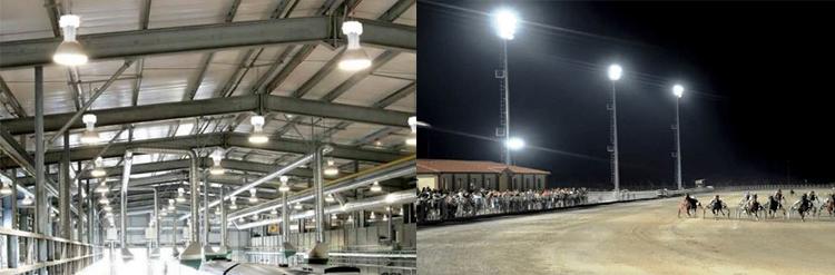 Đèn cao áp 400w metal tại nhà xưởng, trường đua ngựa