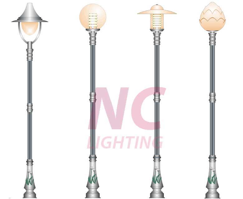 cột đèn trang trí sân vườn bambo