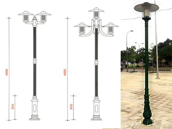 Cột đèn sân vườn Jupiter