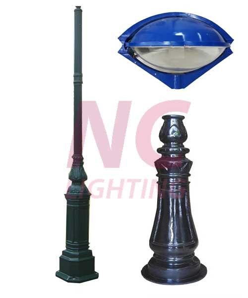 cột đèn sân vườn kiểu con mắt