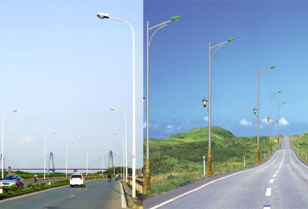 Đèn cao áp chiếu sáng đường phố