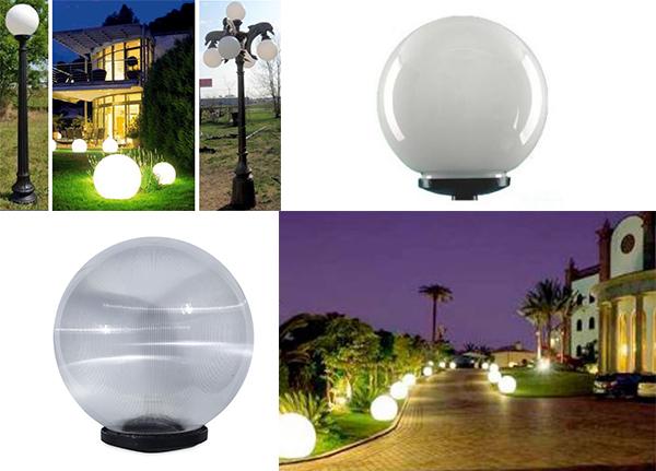 đèn bóng cầu trang trí sân vườn