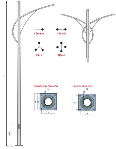 trụ đèn cao áp tại Lâm Đồng