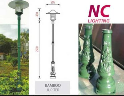 Không gian sân vườn đổi thay nhờ cột đèn sân vườn Bamboo